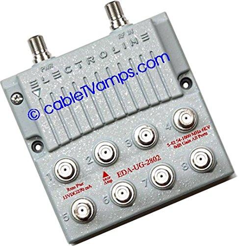 Electroline EDA-UG2802 Zero-Loss 8-port CATV Amp-Splitter by Electroline