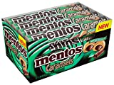 Mentos Candy Roll, Caramel and Mint Dark Chocolate, 1.34 Ounce/9 Pieces (Pack of 12)