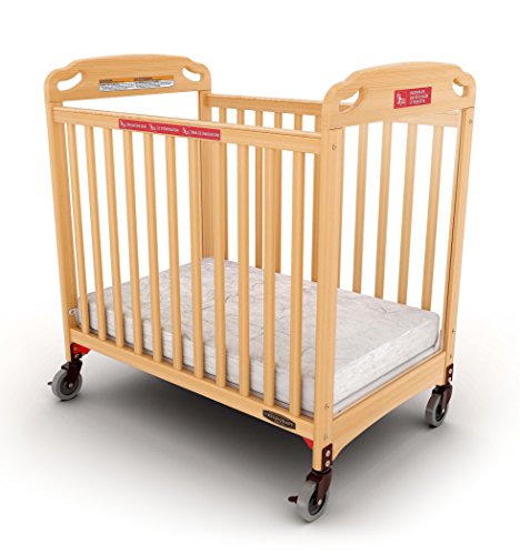 Child Craft Safe Haven Daycare Evacuation Compact Crib with Casters, Natural ()