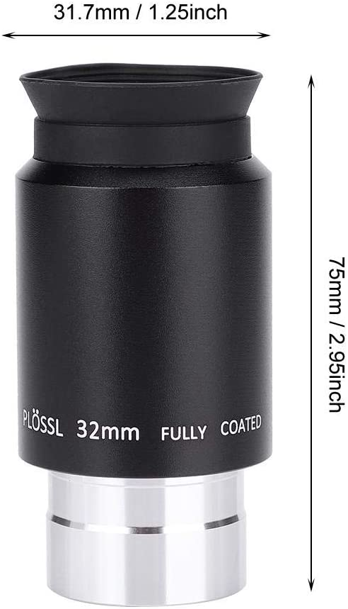 Ocular Plossl de Astronomical Telescope Accessories High Power Eyepiece PL32MM Eyepiece Standard 1.25 Pulgadas lahomie Ocular del Telescopio 1.25 Pulgadas