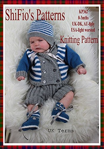 (Knitting Pattern - KP362 - baby jacket, hat, pants & booties - 0-3mths - UK Terminology)