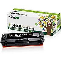 Kingjet Compatible Toner Cartridge Replacement for 202A CF500A, Work with Color Laserjet Pro MFP M281dw M281cdw M281fdw, MFP M280, M254dw 1 Pack (Black)