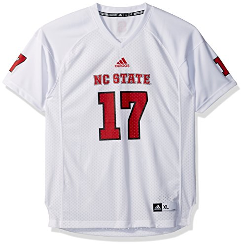 (Outerstuff NCAA North Carolina State Wolfpack Youth Boys Player Replica Fashion Football Jersey, X-Large (18), White )