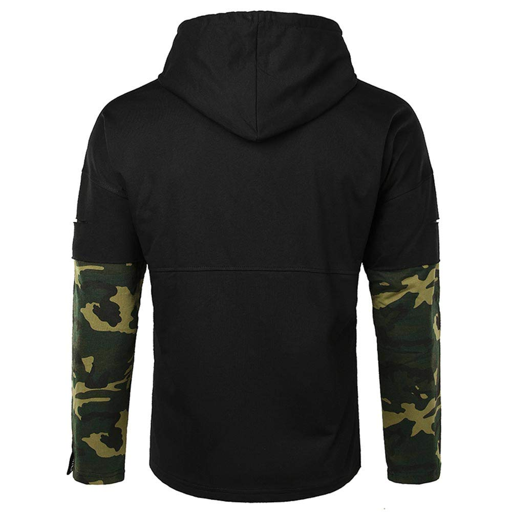 0b5fffd97fd Happy-Day Men s Casual Autumn Winter Long Sleeve Hooded Pullover  Sweatershirt Blouse