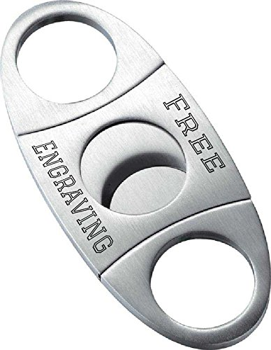 Personalized Stainless Steel Cigar Cutter with Free Engraving