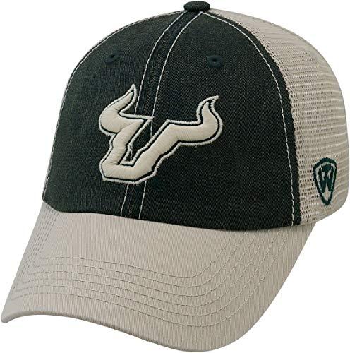 (USF Bulls Mens Offroad Hat One Size Dark green/white)
