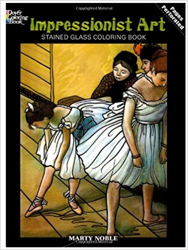 impressionist art stained glass coloring book dover stained glass coloring book