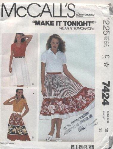 [McCall's Make It Tonight Wear It Tomorrow Skirt Sewing Pattern #7424] (Companies Make Dance Costumes)