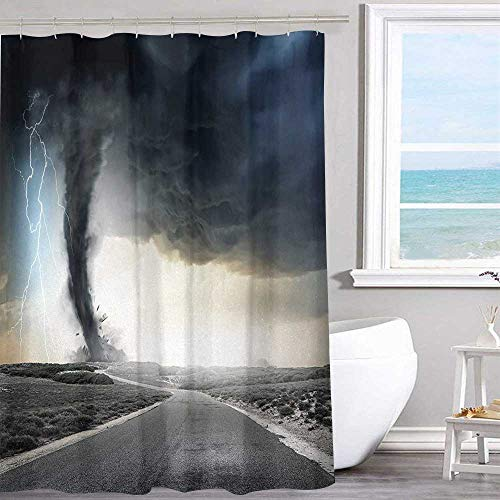 (Polyester shower curtain 36