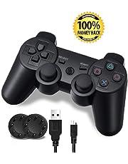 Mando PS3, PS3 controller, Control Inalámbrico con Función SIXAXIS y Doble Vibración para Playstation 3
