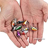 WALLER PAA Lot 10Pcs Fishing Lures Kinds Of Minnow Fish Bass Tackle Hooks Baits Crankbait