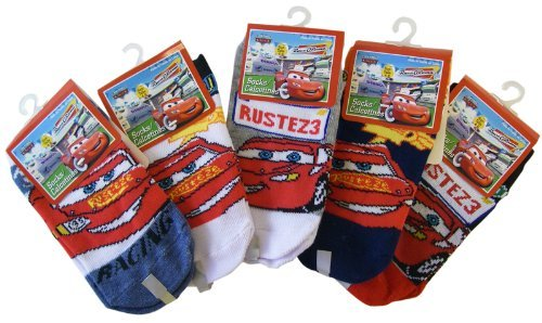 Disney Pixar's Cars 3 Pairs of Lighting McQueen Socks - Size 4-6