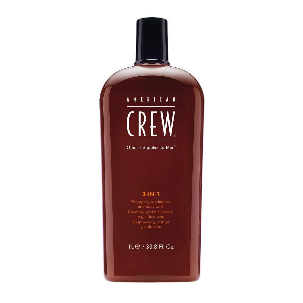 American Crew 3-in-1 Shampoo, Conditioner, and Body Wash, 33.8 Fl. Oz.