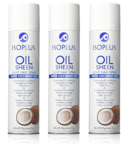 ISOPLUS COCONUT OIL SHEEN LIGHT SPRAY 9oz