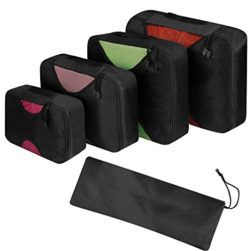 Packing Cubes - 4pc Set Travel Organizers with ...
