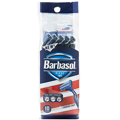 Barbasol Pivot Twin Premium Disposable Razor, 10 Count