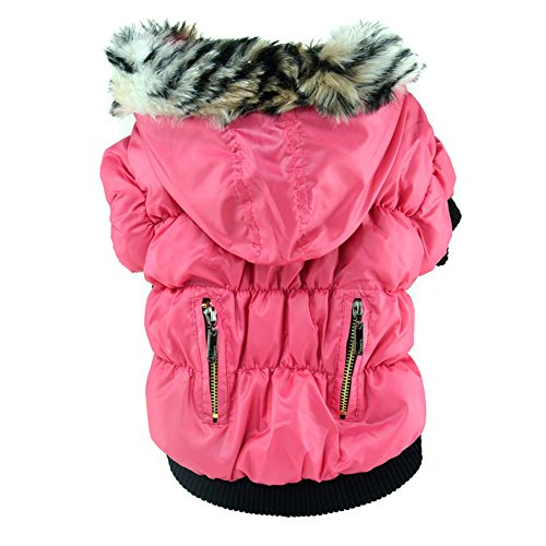 Soly Tech Winter Pet Cat Dog Soft Padded Coat Hooded Jacket Small Dog Clothes ()