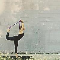 Topdo Cinturón de yoga de algodón duradero con cinturón de hebilla con anillo en D ajustable para estiramiento de la aptitud para mantener la flexibilidad de la postura y la fisioterapia-Púrpura 185cm: