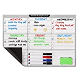 "Clearance Sale! Nekmit Magnetic Dry Erase Board Weekly Planner for Refrigerator 16.5""x11.8"""