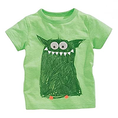 Soda Park Boys Doodle Big Eyes Monster Funny T Shirt