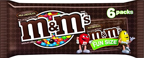 M&M'S Milk Chocolate Candies FUN SIZE, 3.18 Ounce (Pack of 24) by M&M's
