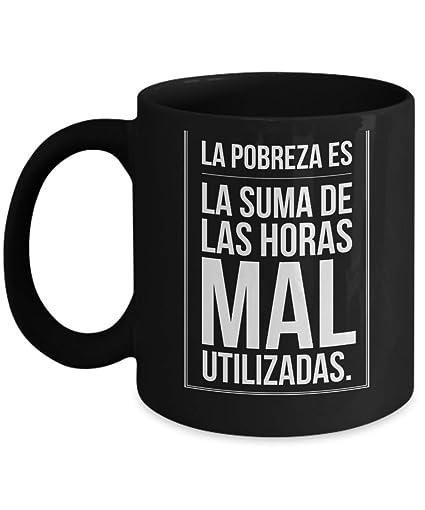 Amazon.com: La Pobreza | Taza cerámica de café o desayuno ...