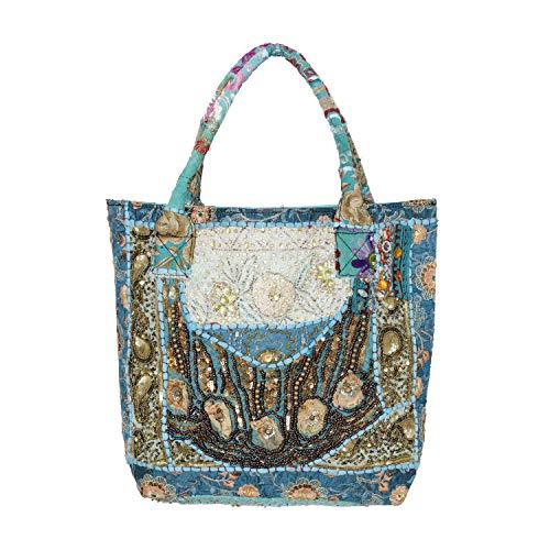 - Handicraft-Palace Vintage Sequins Hobo Beaded Indian Shoulder Bag Handmade Bags (Turquoise)