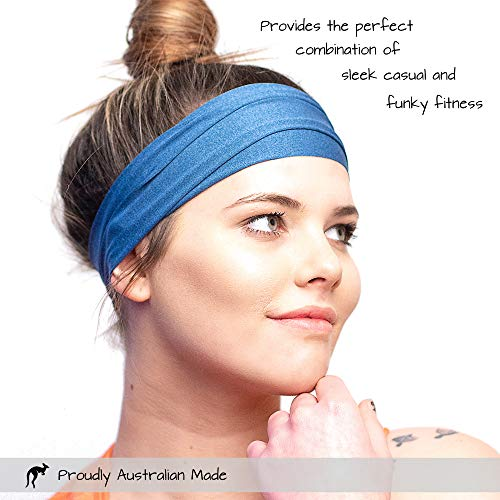 Red Dust Active Workout Headband - Ideal for Sports, Fitness, Running, The Gym & Yoga - Moisture Wicking - Non-Slip - Exercise Sweatband - Designed for Versatility & The Active Women by Red Dust Active (Image #3)