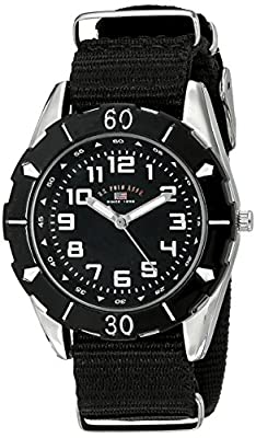 U.S. Polo Assn. Kids' USB75027 Stainless Steel Watch with Black Nylon Strap from Accutime Watch Corp.