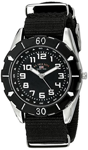 U.S. Polo Assn. Kids USB75027 Stainless Steel Watch with Black Nylon Strap