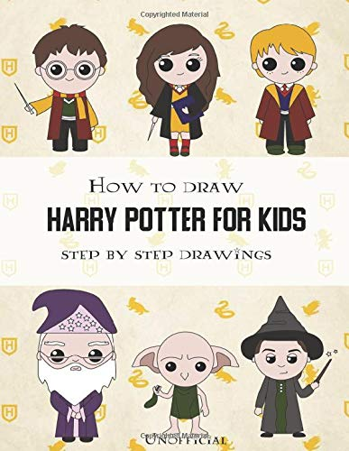 How To Draw Harry Potter For Kids - Step By Step Drawings: Harry Potter Drawing Book por Children House