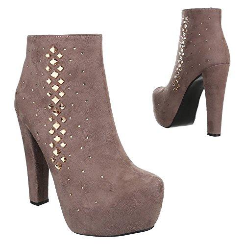 Ital-Design - botas Mujer marrón claro