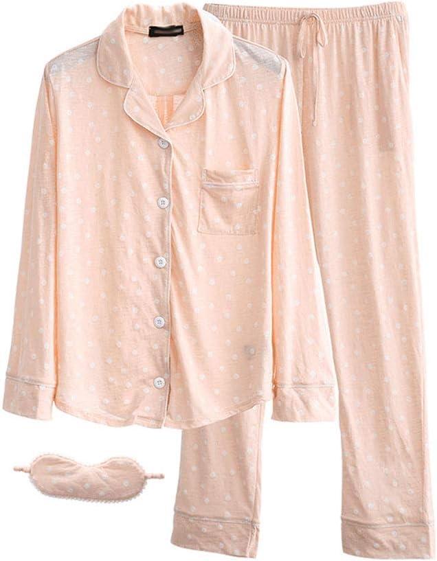 Pijama Señoras De Primavera Y Verano Pijamas De Algodón Dulce Lindo Pijamas De Manga Larga Traje De Ocio En Casa Pijamas De Confort Pijama de Mujer: Amazon.es: Ropa y accesorios