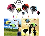 Yo-fobu 6 Pack Throwing Parachute Men Toss It Up and Watch Landing Outdoor Color Funny Free Flying Novelty Toys for Kids Parachute Games