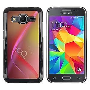 TopCaseStore / la caja del caucho duro de la cubierta de protección de la piel - Pink Brown Lines Rings Yellow - Samsung Galaxy Core Prime SM-G360