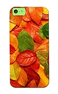 Hard Plastic Iphone 5c Case Back Cover,hot Autumn Carpet Of Leaves Case At Perfect Diy