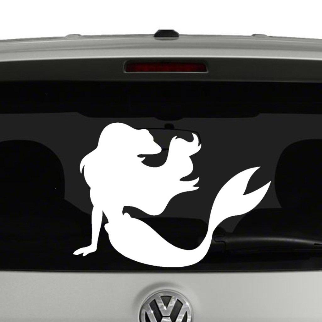 Amazon com cci mermaid silhouette decal vinyl stickercars trucks vans walls laptop white 5 5 x 4 incci1169 automotive
