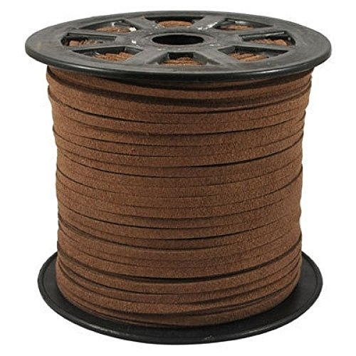 BeadsTreasure Pery Suede Cord Lace Leather Cord For Jewelry Making 3x1.5 mm-20 Feet.
