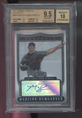 2007 Bowman Sterling Madison Bumgarner ROOKIE Autograph AUTO Graded Card BGS ()