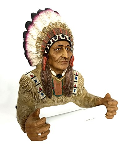 EST Giftland Indian Chief Native American Toilet Paper Holder Bathroom -