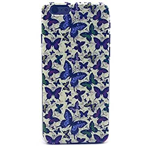 iPhone 6 PLUS Case, iPhone 6 (5.5 Inch) Case - LUOLNH Fashion Style Colorful Painted Many purple butterfly Hard Case Back Cover Protector Skin For iPhone 6 (5.5 Inch)