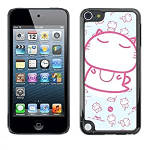 For Apple iPod Touch 5TH GEN - Cute Japanese Baby Kitten Pattern /Modelo de la piel protectora de la cubierta del caso/ - Super Marley Shop -