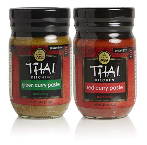 - Thai Kitchen Curry Paste Combo Pack, Includes One Each of Red and Green Curry with Aromatic Spices, 4 Ounce, Pack of 2
