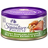 Wellness Signature Selects Natural Canned Grain Free Wet Cat Food, Chunky Chicken & Wild Salmon, 2.8-Ounce Can (Pack Of 24)
