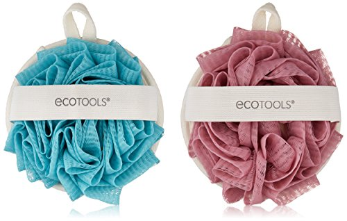 EcoPouf Dual Cleansing Pad; Fine Netting Pouf; Rich Lather, Gentle Cleansing, and Exfoliation for Smoother, Softer Skin; Self Care Through Skin Care; 4 Count