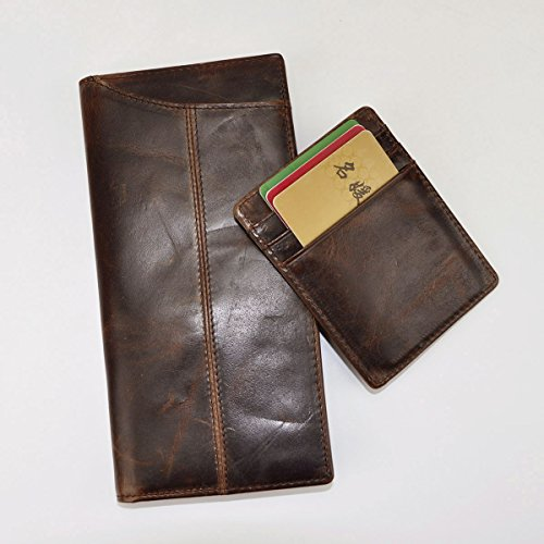 Le'aokuu Mens Genuine Leather Bifold Wallet Organizer ...