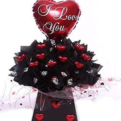 Lindor Chocolate Bouquet With I Love You Balloon The Perfect