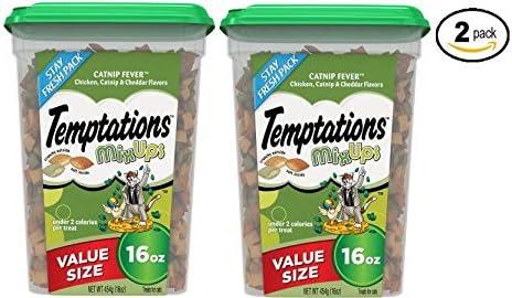 Amazon Com Temptations Mixups Catnip Fever Flavor Cat Treats 16