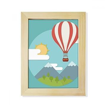 Amazoncom Diythinker Hot Air Balloon Sun Cloud Pattern Desktop