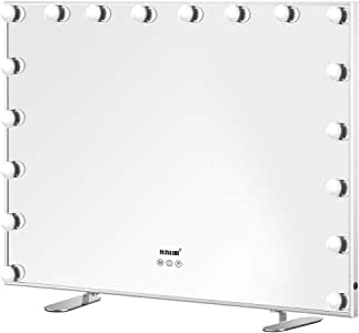 Maxkon Hollywood Makeup Mirror with 18 LED Bulbs Adjustable Brightness